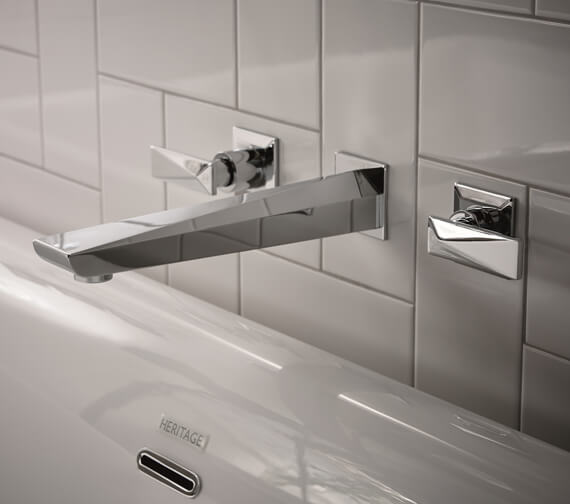 Heritage Hemsby Chrome Wall Mounted Basin Mixer Tap