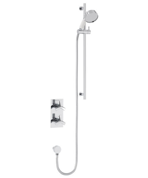 Heritage Hemsby Chrome Recessed Thermostatic Valve With Shower Kit