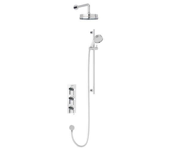 Heritage Somersby Concealed Thermostatic Valve With Fixed Head And Flexible Riser Kit