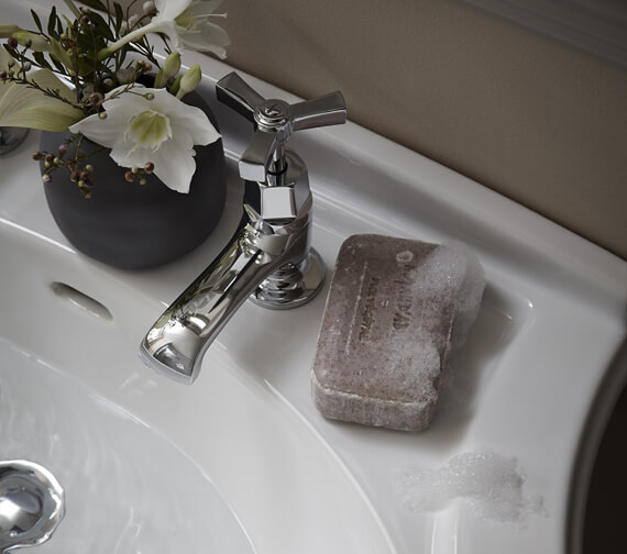 Heritage Gracechurch Basin Pillar Taps With Chrome Handles