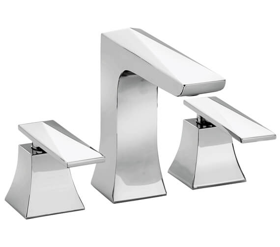 Heritage Hemsby Chrome 3 Taphole Basin Mixer Tap With Waste