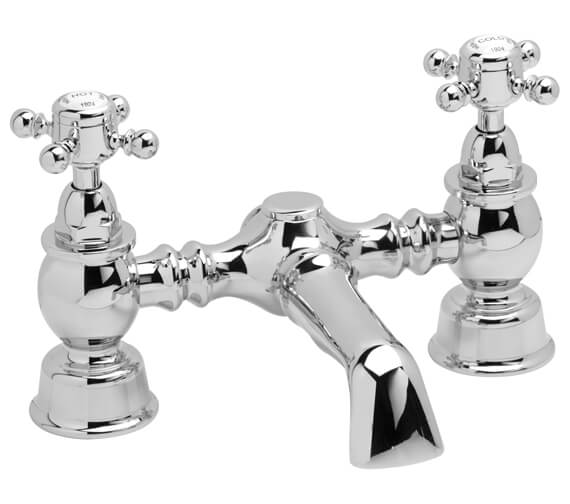 Heritage Hartlebury Deck Mounted Chrome Bath Filler Tap