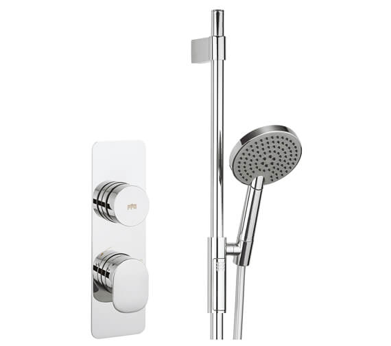 Crosswater Dial Valve 1 Control With Pier Trim And Ethos 3 Mode Shower Handset