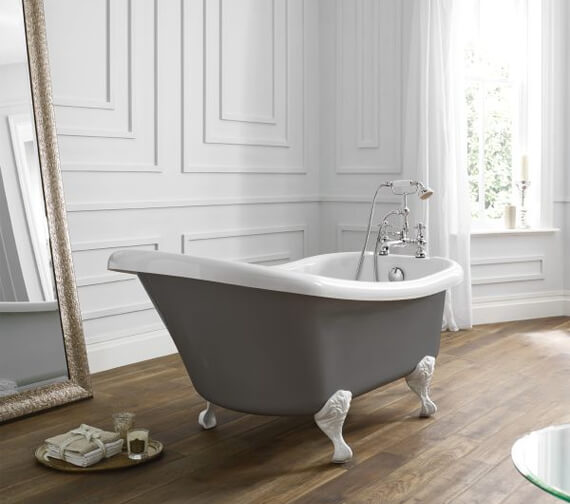 Additional image of April Eldwick 1500 x 750mm White Slipper Freestanding Bath