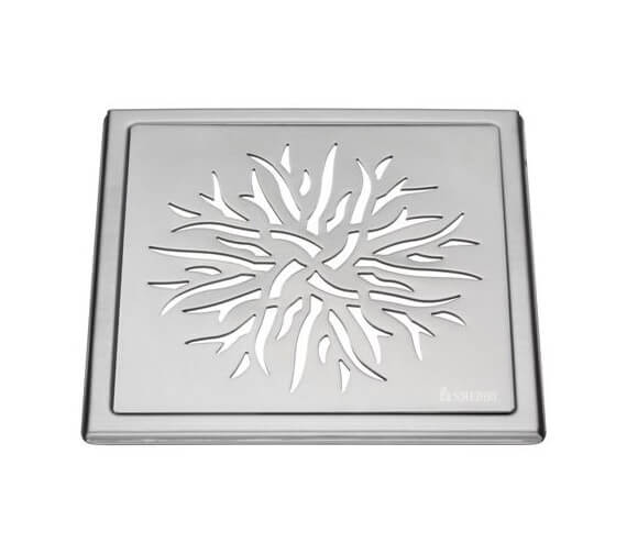 Alternate image of Smedbo Outline Star Polished Chrome Floor Grating