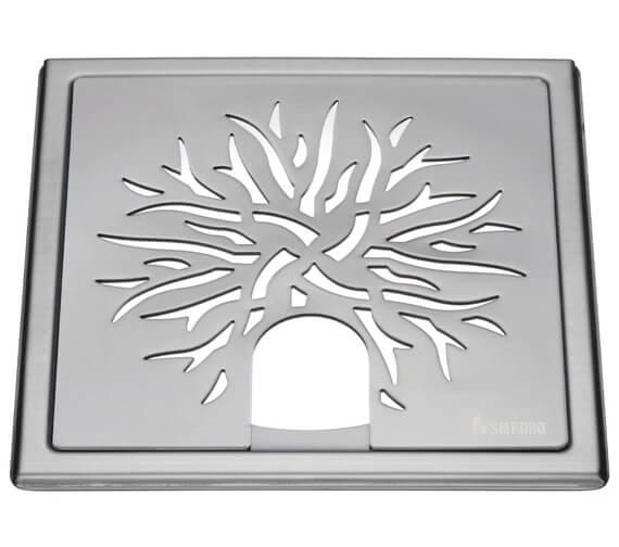 Alternate image of Smedbo Outline Star Polished Chrome Floor Grating For Tub