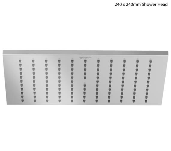 Duravit 240 x 240mm Square Stainless Steel Showerhead