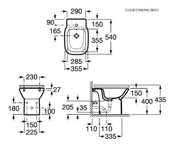 Technical drawing QS-V83997 / 355994000