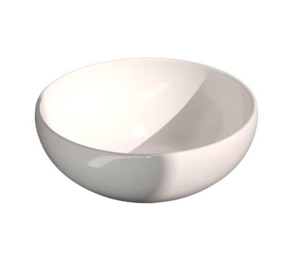 Saneux Podium 450mm White Round Sit On Washbasin