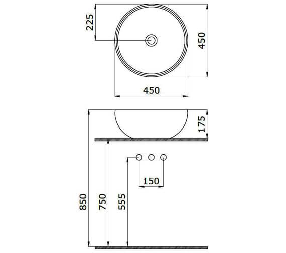 Technical drawing QS-V29525 / 39050