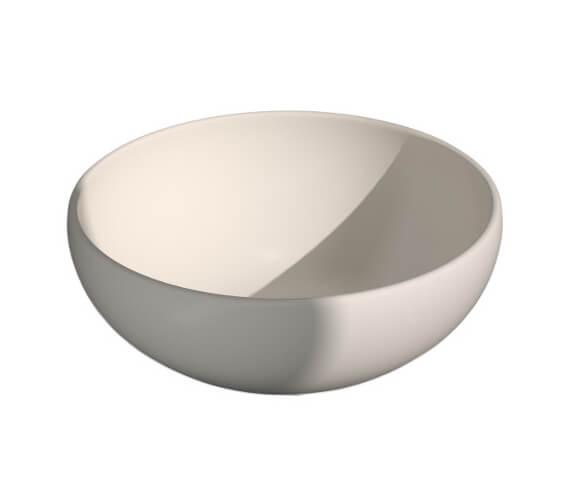 Additional image of Saneux Podium 450mm White Round Sit On Washbasin