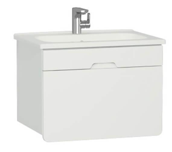 VitrA D Light 700 x 500mm Vanity Unit And Basin Matte White