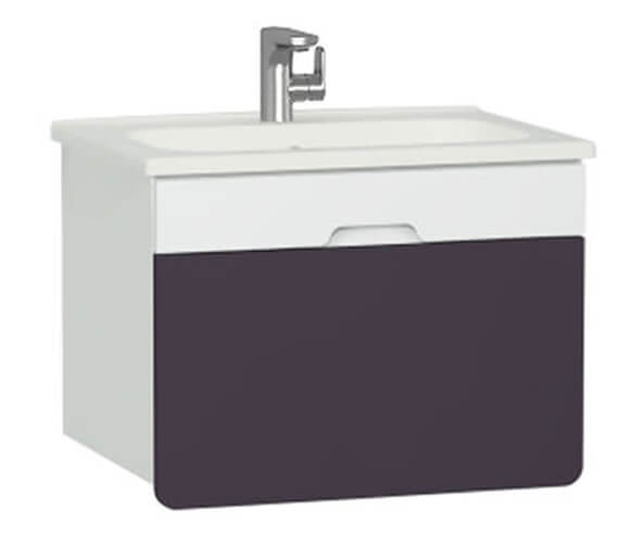 Additional image of VitrA D Light 900 x 500mm White Vanity Unit And Basin