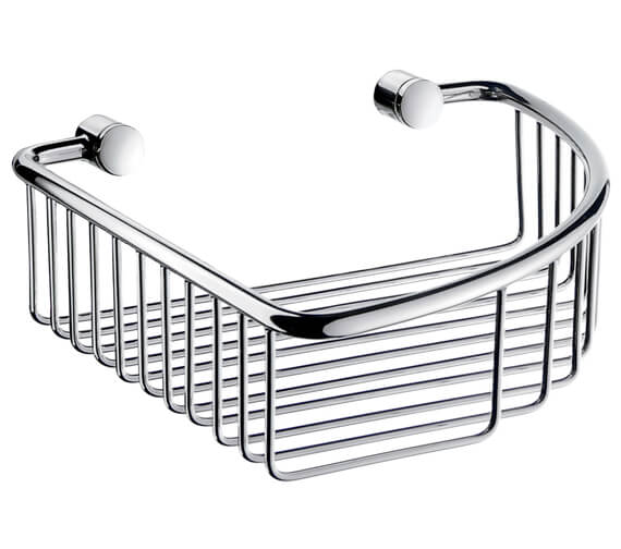 Smedbo Villa Polished Chrome Corner Soap Basket