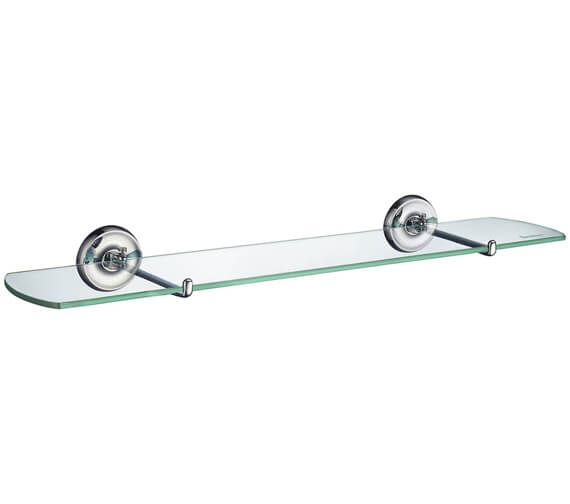 Smedbo Villa Polished Chrome Glass Shelf