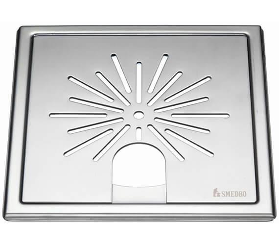 Smedbo Outline Star Polished Chrome Floor Grating For Tub
