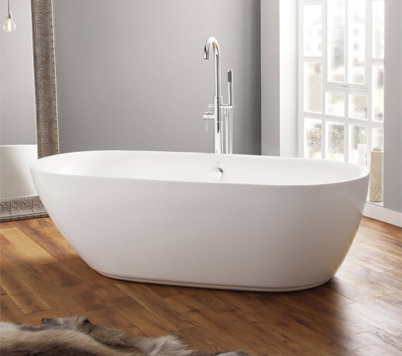 April Cayton Contemporary Freestanding Oval Shaped Bath