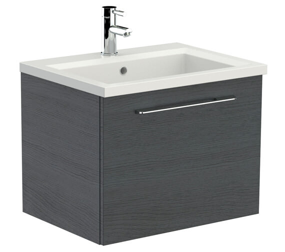 Additional image of Saneux Austen 600mm Gloss White Soft Close Drawer Unit With X ACT Washbasin