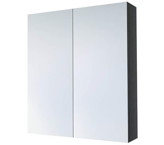 Additional image of Saneux Austen 600mm Gloss White 2 Door Mirror Cabinet