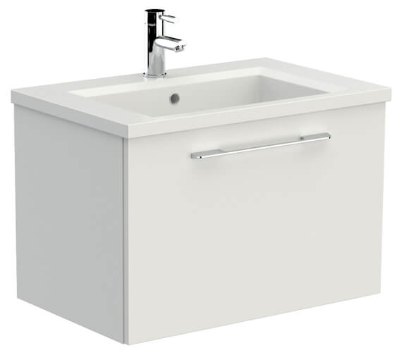Saneux Austen 710mm Gloss White 1 Drawer Unit With X ACT Washbasin