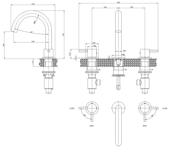 Technical drawing QS-V72546 / PRO135DNC