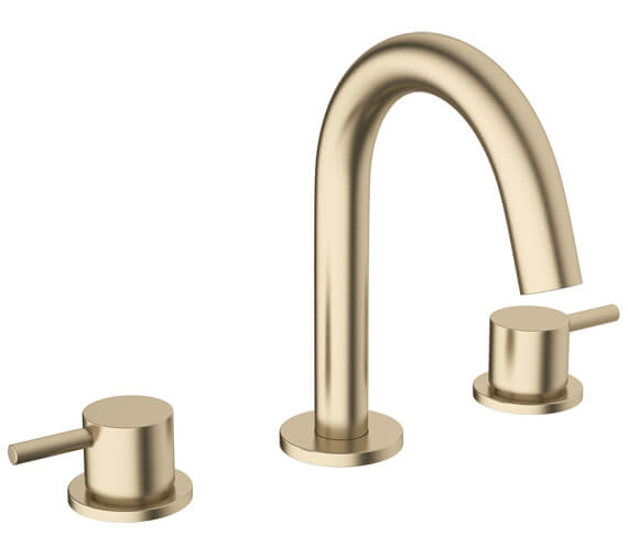 Additional image of Crosswater MPRO 3 Hole Deck Mounted Basin Mixer Tap