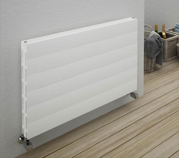 Alternate image of Reina Veno 600 x 605mm White Double Panel Horizontal Radiator - More Width Sizes Available