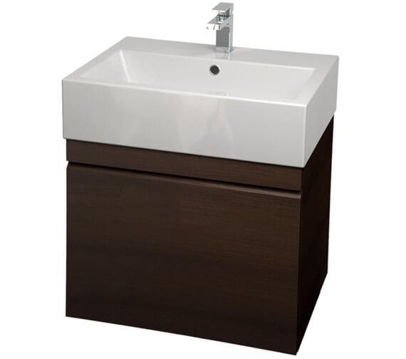 Saneux Matteo 500mm Wenge Handleless Drawer Unit With Washbasin