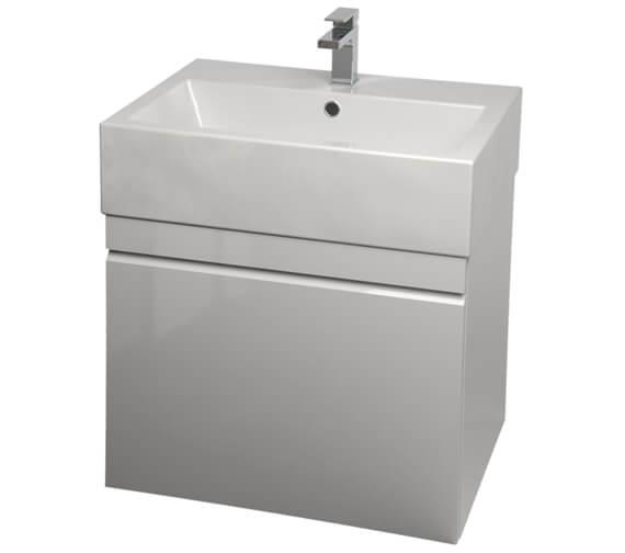 Additional image of Saneux Matteo 500mm Wenge Handleless Drawer Unit With Washbasin