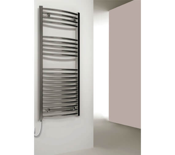 Reina Diva 750mm Wide Flat Electric Towel Rail Chrome