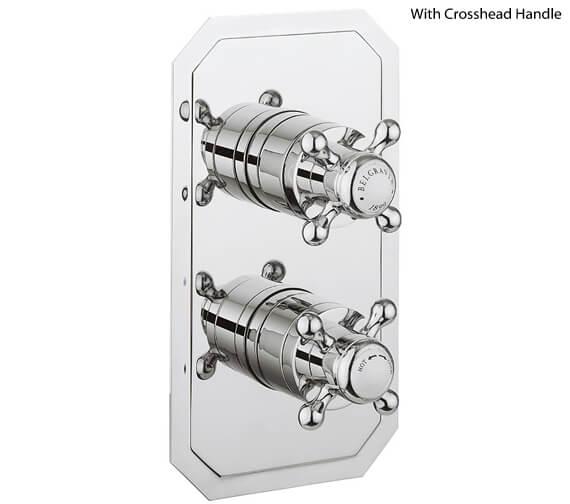 Crosswater Belgravia Crosshead Slimline 1000 Thermostatic Shower Valve