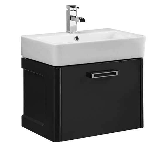 Additional image of Tavistock Q60 575mm White Wall Mounted Vanity Unit With Ceramic Basin