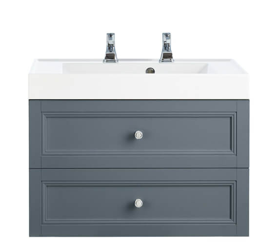 Additional image of Heritage Caversham 700mm 2 Drawer Wall Hung Furniture Vanity Unit