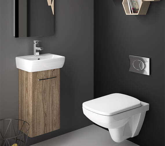 Alternate image of Twyford E100 Square 305mm Unit For 360mm 1 Or 2 Tap Hole Basin