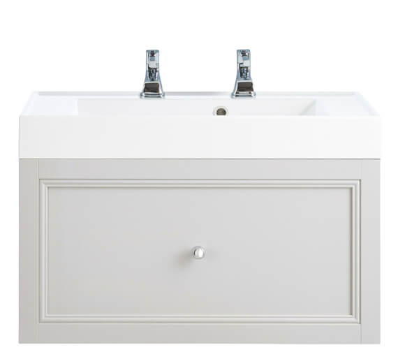 Heritage Caversham 700mm White Ash 1 Drawer Wall Hung Furniture Vanity Unit