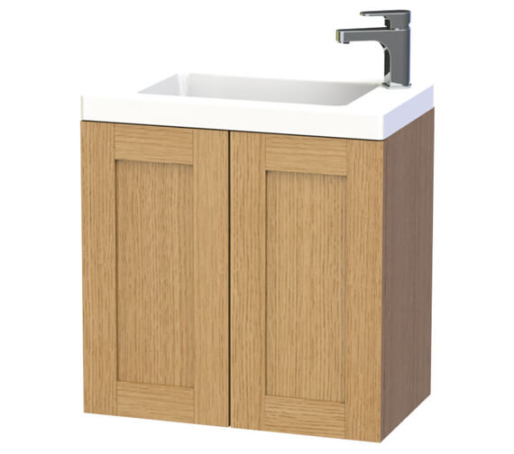 Additional image of Miller London 60 Double Door White Wall Hung Basin Vanity Unit