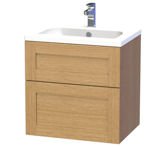 Additional image of Miller London 60 Two Drawer White Wall Hung Vanity Unit