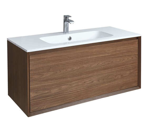 Additional image of Phoenix Enzo 1010mm Wall Mounted Vanity Unit With Mineral Cast Basin White
