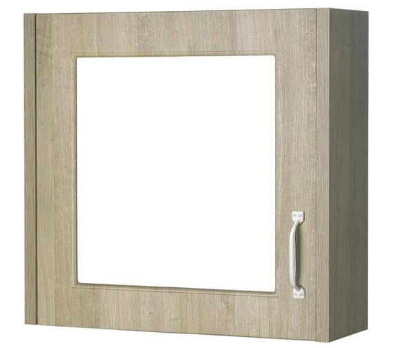 Additional image of Premier York Porcelain White Ash 600mm 1 Door Mirror Cabinet