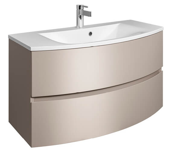 Additional image of Bauhaus Svelte 1000mm Wall Hung Vanity Unit And Basin