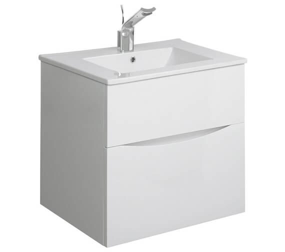 Additional image of Bauhaus Glide II 500mm Double Drawer Vanity Unit - GL5000DDW+