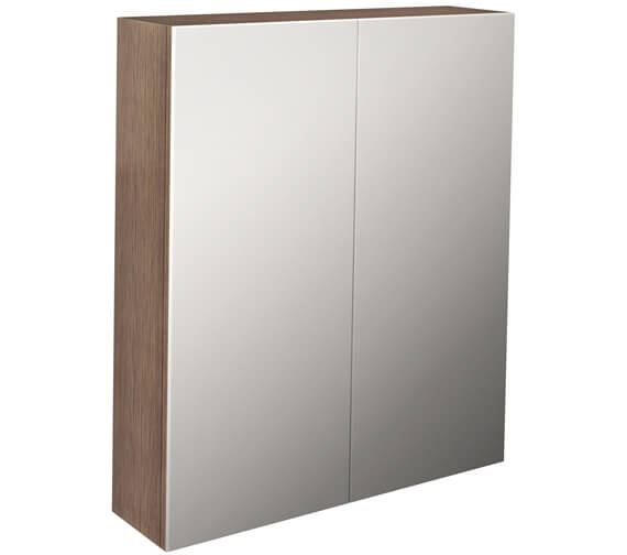 Additional image of Pura Echo Double Door Mirror Cabinet 600mm White Gloss