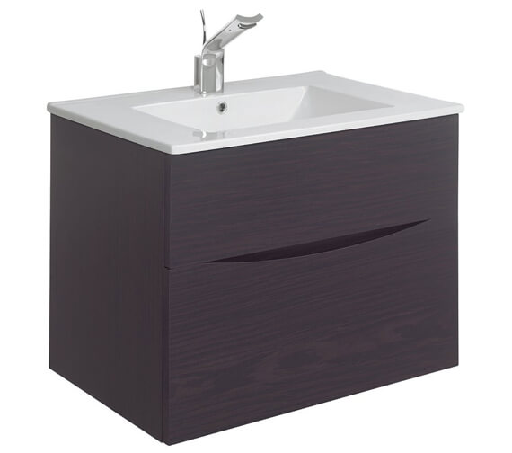 Alternate image of Bauhaus Glide II 700mm Double Drawer Vanity Unit Driftwood