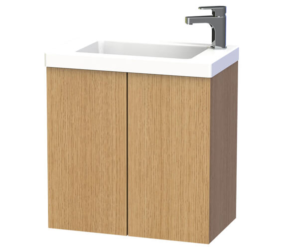 Additional image of Miller New York 60 Double Door White Wall Hung Basin Vanity Unit