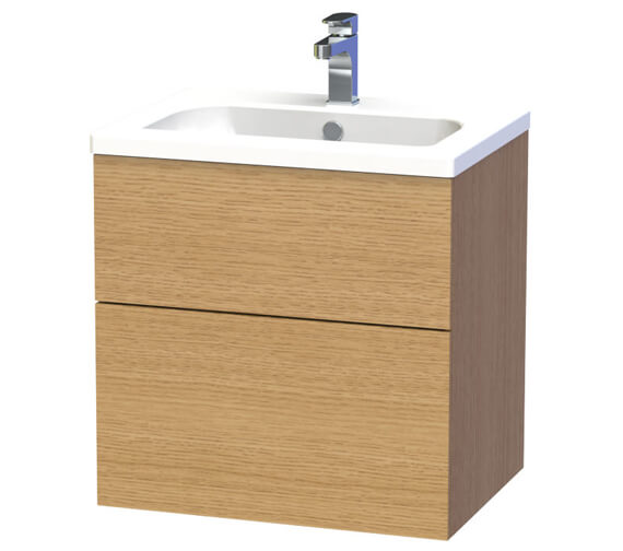Additional image of Miller New York Two Drawer Wall Hung Vanity Unit
