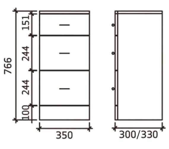 Technical drawing QS-V19388 / PRC135