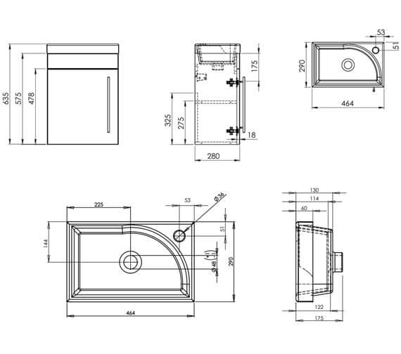 Technical drawing QS-V19480 / ESWM45W