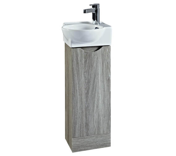 Alternate image of Phoenix Georgia 350 x 860mm White Unit And Ceramic Basin - Avola Finish Available