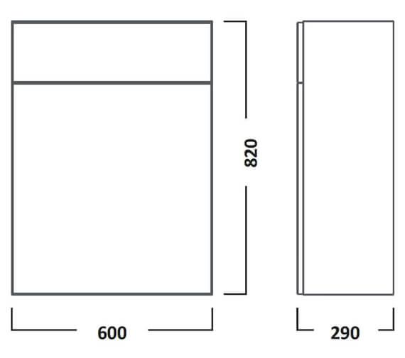 Technical drawing QS-V7207 / CR6BTWHV