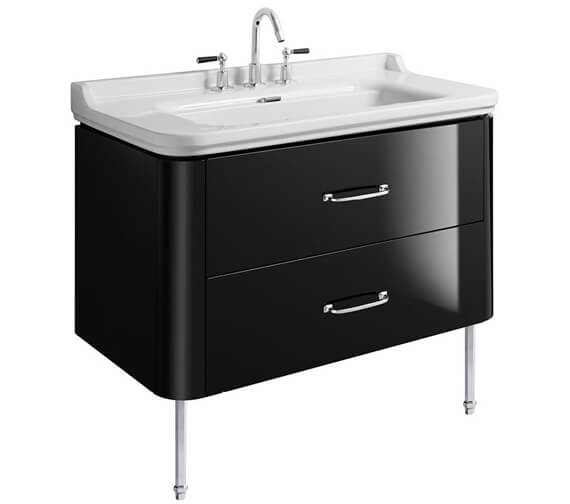 Alternate image of Bauhaus Waldorf 1000mm Basin Unit With Legs And 2 Bow Handles